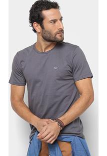 Camiseta All Free Básica Masculina - Masculino-Cinza