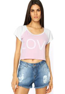 Blusa Pink Connection Love Rosa