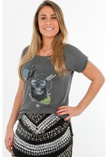 Camiseta Romeo Store Hip Skull - Feminino