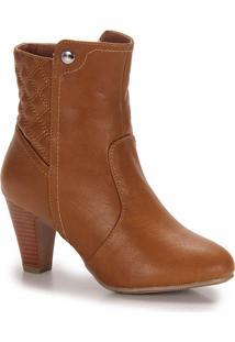Ankle Boots Feminina Mooncity - Caramelo