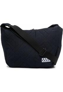 White Mountaineering Logo-Patch Shoulder Bag - Azul