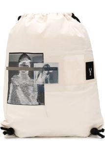 Rick Owens Drkshdw Mochila Com Estampa Fotográfica - Branco