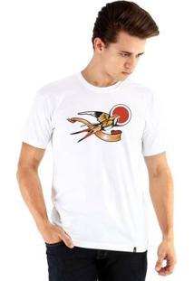 Camiseta Ouroboros Manga Curta Liberté - Masculino-Branco