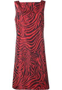 Calvin Klein 205W39Nyc Vestido Com Estampa De Zebra - Vermelho