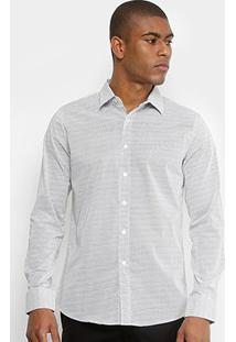 Camisa Broken Rules Maquinetada Masculina - Masculino-Branco