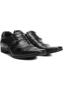 Sapato Social Couro Rafarillo Sem Cadarço New Vegas Masculino - Masculino-Preto