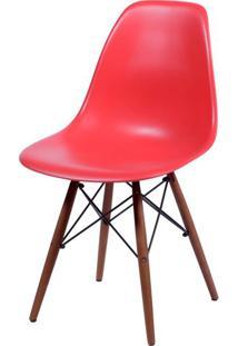 Cadeira Eames Polipropileno Vermelho Base Escura - 44830 - Sun House
