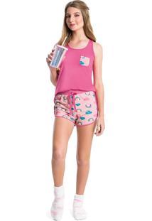 Pijama Curto Estampado Feminino