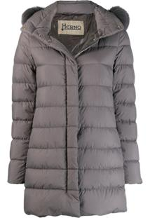 Herno Mid-Length Puffer Jacket - Cinza