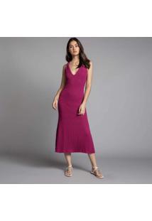 Vestido Frente Única Tricô Violeta Tamisa - Lez A Lez
