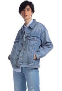 Jaqueta Jeans Levis Trucker Dad - 70007 - Feminino-Jeans
