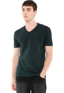 Camiseta Calvin Klein Jeans Degradê Verde