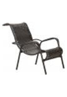 Cadeira De Area Aguia Tabaco 1Un Para Jardim Varanda Edicula Ferro E Fibra