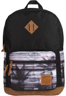 Mochila Hang Loose Smooth Preto Estampado - Unissex