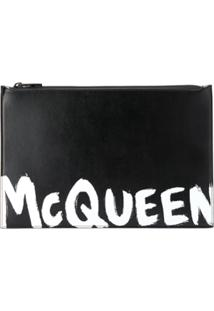 Alexander Mcqueen Zipped Clutch Bag - Preto