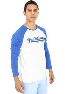 Camiseta Kahú Guardians Colleged Branca E Azul