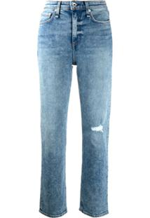 Rag & Bone Calça Jeans Cropped Nina - Azul