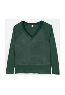 Blusa Lisa Com Recortes | Marfinno | Verde | Gg