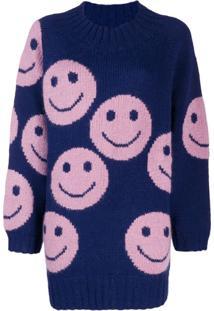Marc Jacobs Suéter Smiley - Azul
