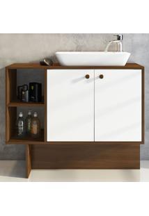 Armário De Banheiro Tok 2 Portas Brb46_Br Branco - Estilare Móveis