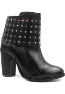 Bota Cano Curto Zariff Shoes Ankle Boot Salto Preto