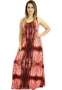 Vestido Pau A Pique Longo Vermelho