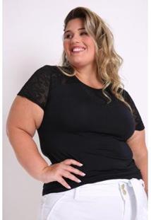 Blusa Kauê Plus Size Visco E Devorê Feminina - Feminino