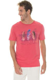 Camiseta Timberland Brazilian Feather Masculina - Masculino-Vermelho