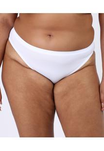 Calcinha Trifil Plus Size Biquíni Em Microfibra Branca