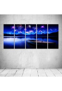 Quadro Decorativo - Sky Blue - Composto De 5 Quadros - Multicolorido - Dafiti