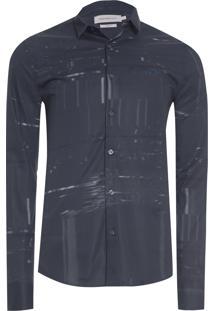 Camisa Masculina Estampa Error - Preto