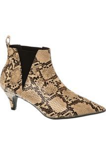 Ankle Boot Cobra Com Salto Fino Médio