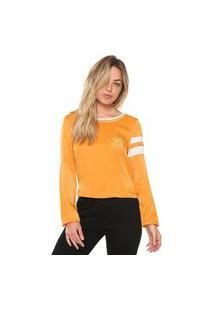 Camiseta Ellus Rock Satin Patch Amarela