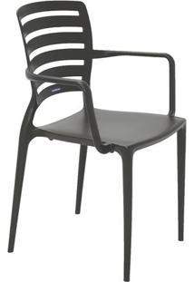 Cadeira Sofia- Marrom Escuro- 84,5X58,5X51Cm- Trtramontina