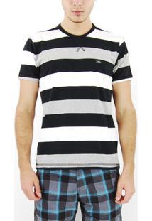 Camiseta Hd Preto Listrado