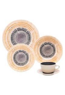 Aparelho De Jantar E Chá Oxford 30 Peças Cerâmica Unni Puzzling