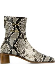 Acne Studios Branded Ankle Boots - Cinza