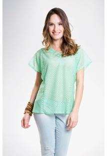 Blusa Mercatto Básica Verde