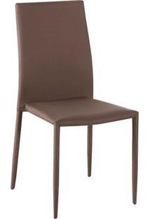 Cadeira Amanda Tecido Cafe Rivatti