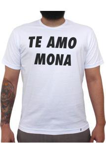 Te Amo Mona - Camiseta Clássica Masculina