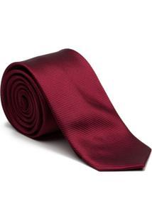 Gravata Key Design - Seda Burgundy - Masculino