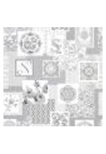 Papel De Parede Adesivo Decoração 53X10Cm Cinza -W29709