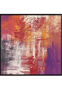 Quadro Decorativo Abstrato- Preto & Laranja- 70X70Cmarte Prã³Pria