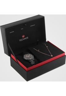 Relógio Technos 2015Ccq/K4P Preto - Kanui