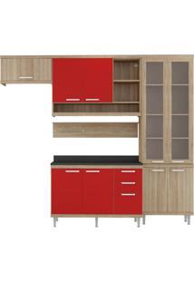 Cozinha Compacta Multimóveis Sicília 5817.132.694.815.610 Argila Vermelho Se