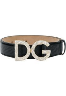 Dolce & Gabbana Cinto 'Dg' De Couro - Preto
