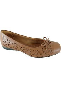 Sapatilha Sapatoweb Confort Feminina - Feminino-Marrom