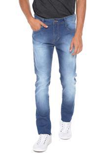 Calça Jeans Triton Slim Estonada Azul