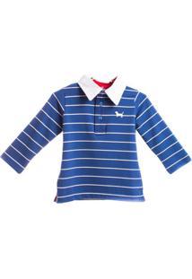 Camiseta Polo - Masculino-Azul