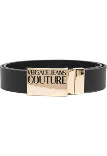 Versace Jeans Couture Pochete Com Placa De Logo Gravado - Preto